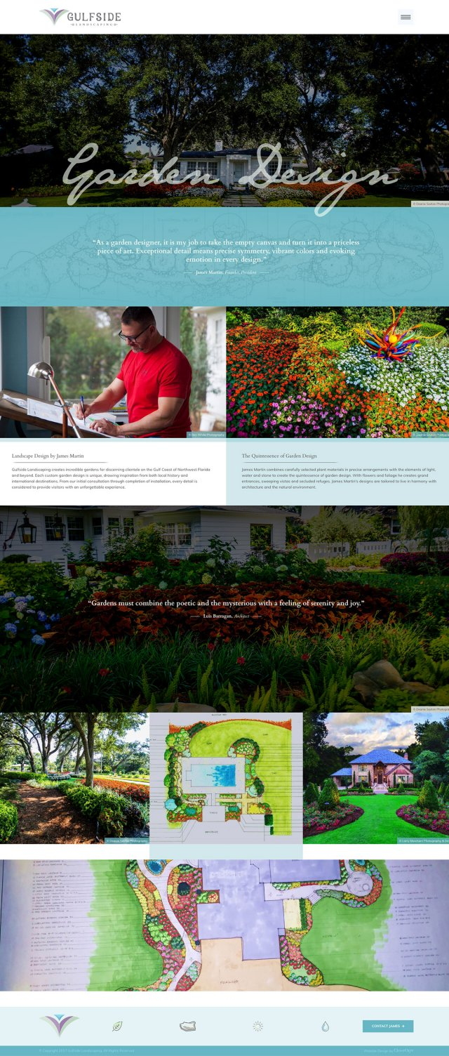 Custom Website Design in Pensacola for Gulfside Landscaping
